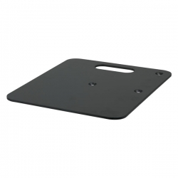 Baseplate - 600(l) x 600(w)mm 14Kg - Black (powder coated)
